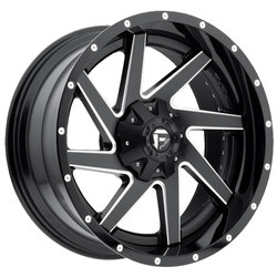 Fuel Wheels Renegade D265 - Black/Milled Center w/Gloss Black Outer - 22x14