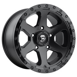 Fuel Wheels Ripper D589 - Matte Black with Gloss Black Lip