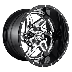 Fuel Wheels Rocker D272 - Chrome with Gloss Black Lip - 22x12