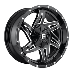 Fuel Rocker D613 - Gloss Black & Milled - 20x9