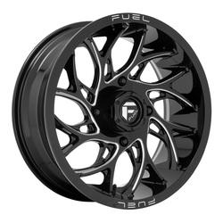 Fuel UTV Wheels D741 Runner UTV - Gloss Black Milled Rim - 22x7