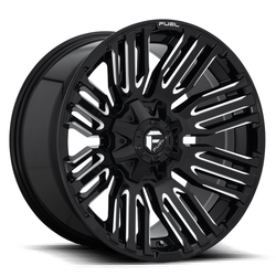Fuel Wheels Schism D649 - Gloss Black with Milled Accents