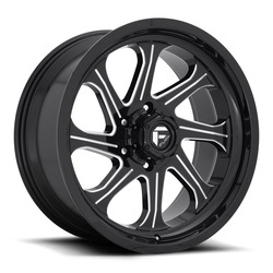 Fuel Wheels Fuel Wheels Seeker D676 - Gloss Black / Milled