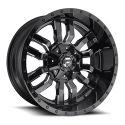 Fuel Wheels Sledge D595 - Gloss Black & Milled Rim - 22x9.5