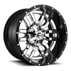 Fuel Wheels Sledge D270 - Chrome with Gloss Black Lip - 22x14