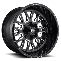 Fuel Wheels Stroke D611 - Gloss Black & Milled - 22x12