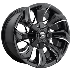 Fuel Wheels Fuel Wheels Stryker D571 - Gloss Black & Milled