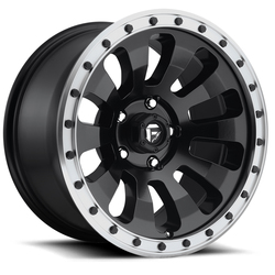 Fuel Tactic D629 - Black with Machined Lip - 20x9