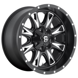Fuel Wheels Throttle D513 - Matte Black & Milled - 22x14