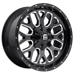 Fuel Wheels Titan D588 - Black & Milled Rim - 22x9.5