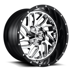 Fuel Wheels Triton D211 - Chrome Face with Gloss Black Lip - 22x14