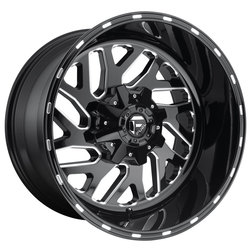 Fuel Wheels Triton D581 - Black & Milled Rim - 22x8.25