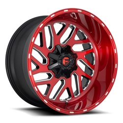 Fuel Wheels Triton D691 - Gloss Red Rim - 22x10