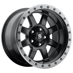 Fuel Wheels Trophy D551 - Matte Black with Anthracite Ring Rim - 17x8.5