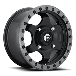 Fuel Gatling D639 UTV - Black Center with Anthracite Ring