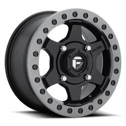 Fuel Wheels Gatling Beadlock D914 - Matte Black with Anthracite Ring Rim - 15x7