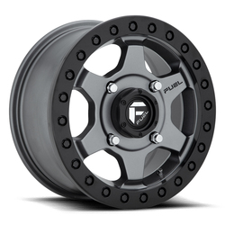 Fuel Wheels Gatling Beadlock D915 - Anthracite Center with Black Ring Rim - 15x7
