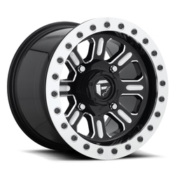 Fuel Wheels Hardline Beadlock D910 - Gloss Black & Milled Rim - 15x7