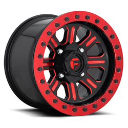 Fuel Hardline Beadlock D911 UTV - Black with Candy Red Accents