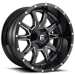 Fuel Wheels Vandal D627 - Gloss Black & Milled - 22x12