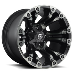 Fuel Wheels Vapor D569 - Black with Dark Tint Rim - 22x10