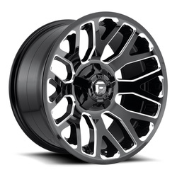 Fuel Wheels Warrior D607 - Gloss Black & Milled