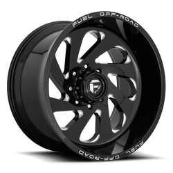 Fuel Vortex D637 - Gloss Black & Milled