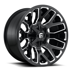 Fuel Wheels Warrior D623-Black - Gloss Black & Milled