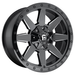 Fuel Wildcat D597 - Gloss Black & Milled