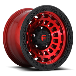 Fuel Wheels Fuel Wheels Zephyr D632 - Candy Red with Matte Black - 17x9