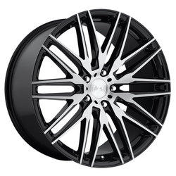 Niche Wheels Anzio M165 - Gloss Black & Brushed Rim - 22x10.5