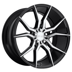 Niche Wheels Ascari M166 - Gloss Black & Brushed Rim