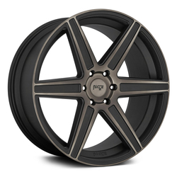 Niche Wheels Carina M236 - Matte Black with Machined Face and Double Dark Tint Rim - 24x10
