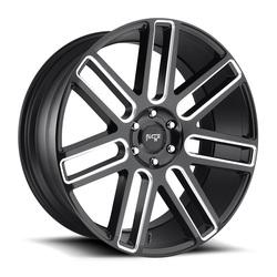 Niche Wheels Elan M096 - Matte Black / Milled Rim - 24x10