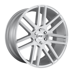 Niche Wheels Elan M099 - Gloss Silver w/Brushed Face - 24x10