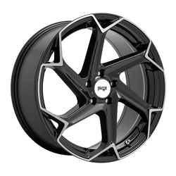 Niche Wheels Flash M255 - Gloss Black with Brushed Face Rim