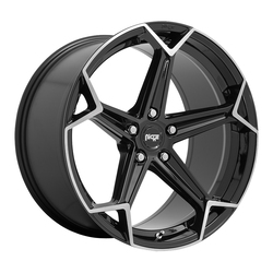 Niche Wheels Arrow M259 - Gloss Black with Brushed Face Rim