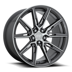 Niche Wheels Gemello M220 - Gloss Anthracite / Machined Rim