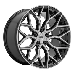 Niche Wheels Mazzanti M262 - Gloss Black with Brushed Face Rim - 22x10