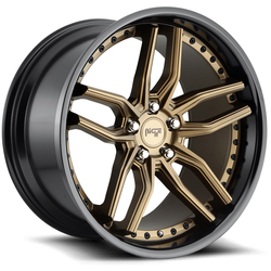 Niche Wheels Methos M195 - Matte Bronze w/Black Lip Rim - 20x10.5