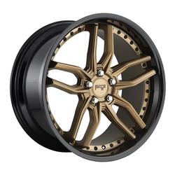 Niche Wheels Methos M195 - Matte Bronze Black Bead Ring Rim
