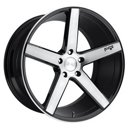 Niche Wheels Milan M124 - Gloss Black/Brushed Rim - 22x10
