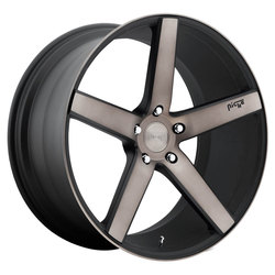 Niche Wheels Milan M134 - Black & Machined w/Double Dark Tint Rim - 22x10.5