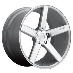 Niche Wheels Milan M135 - Silver w/Machined Cut Face Rim