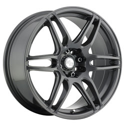 Niche Wheels NR6 M105 - Matte Gunmetal Rim - 17x7.5