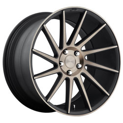 Niche Wheels Surge M114 - Black/Machined & Double Dark Tint Rim