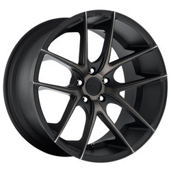 Niche Wheels Targa M130 - Black & Machined w/Dark Tint Rim - 22x10.5