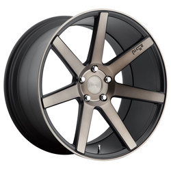 Niche Wheels Verona M150 - Black & Machined w/Dark Tint Rim - 22x9