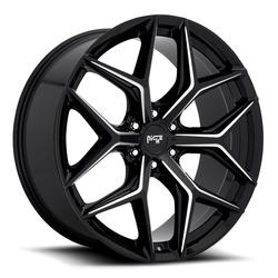 Niche Wheels Vice SUV M232 - Gloss Black with Milled Spoke Edges Rim - 24x10
