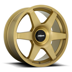 Rotiform Wheels SIX R118 - Matte Gold Rim